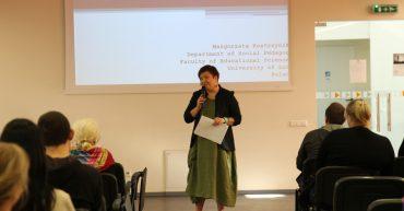 KUAS is visited by the lecturer from Lodz University, Dr. Małgorzata Kostrzyńska